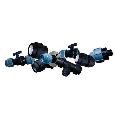 Механические соединения из полиэтилена для водопроводов