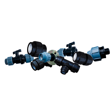 PE mechanical joints for water pipes