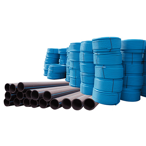 Pipes PE HD 100 for water-supply system