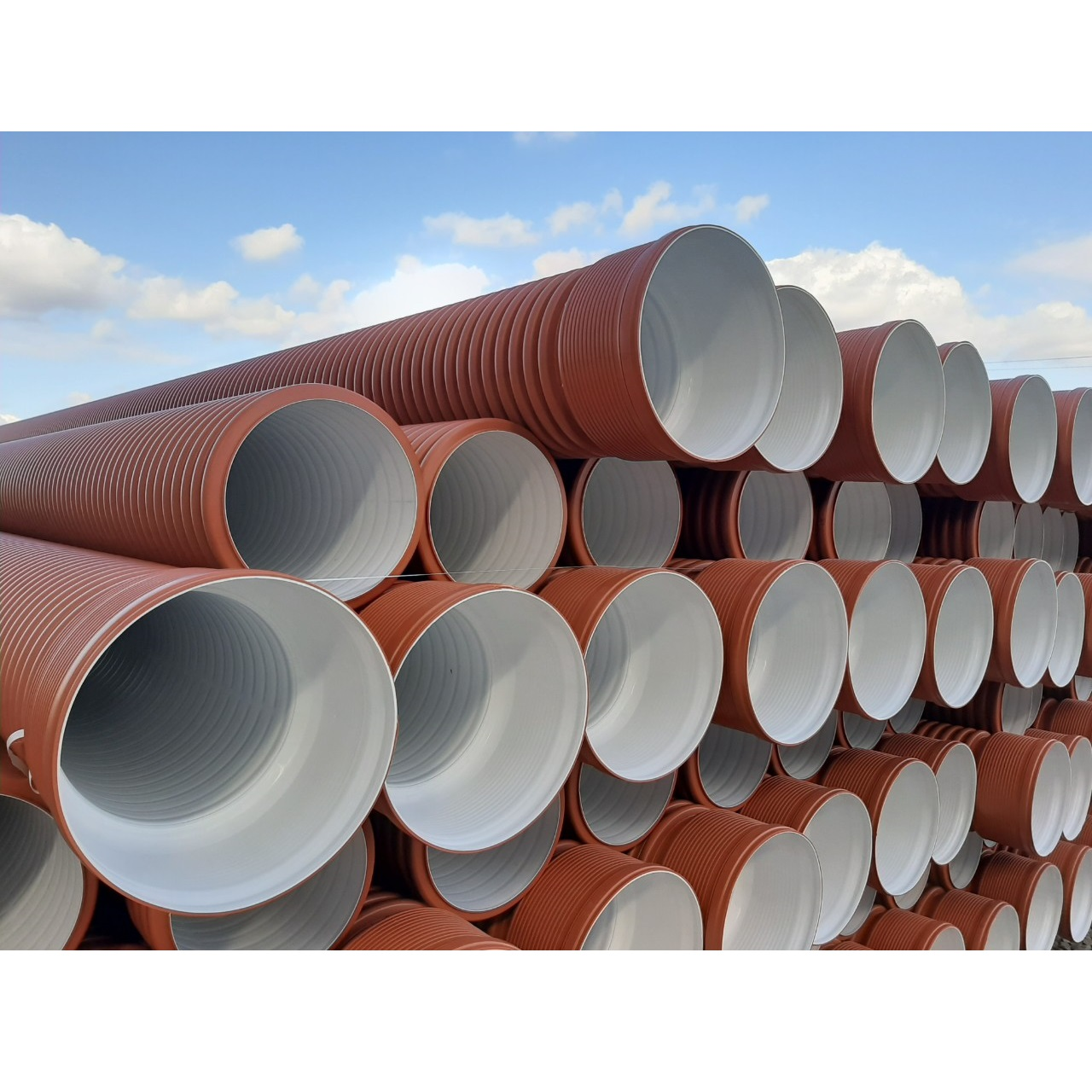 PP corrugated pipes SN8