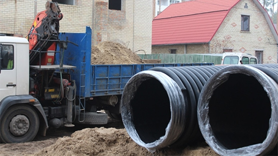 Construction of an unpressurized sewer collector with a diameter of 1000 mm in the city of Irpin
